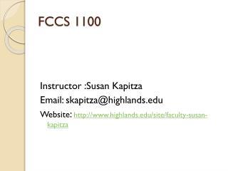 FCCS 1100
