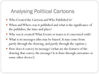 Analysing Political Cartoons