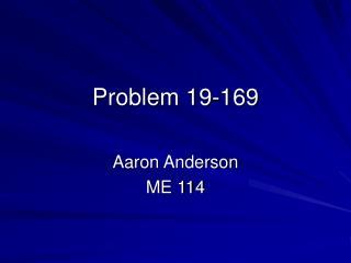 Problem 19-169