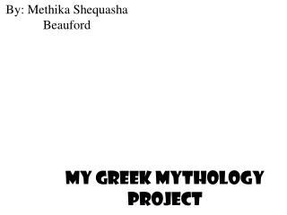 My Greek Mythology Project