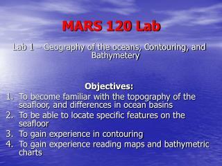 MARS 120 Lab