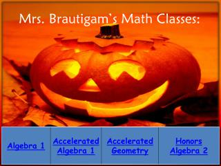 Mrs.  Brautigam's  Math Classes: