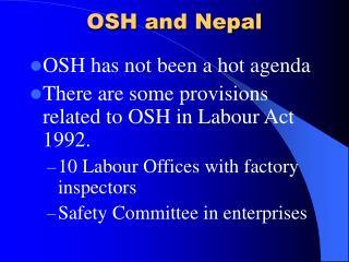 OSH and Nepal