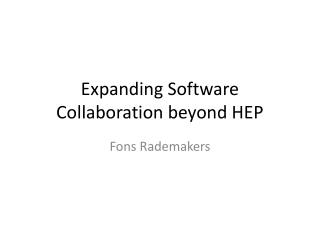 Expanding Software Collaboration beyond HEP
