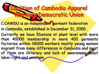 Coalition of Cambodia Apparel Workers Democratic Union