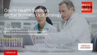 Oracle Health Sciences  Global Business Unit Strategy