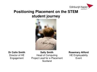 Positioning Placement on the STEM student journey