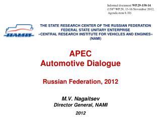 APEC  Automotive Dialogue  Russian Federation,  2012