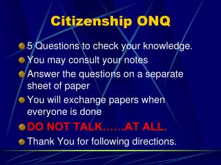 Citizenship ONQ