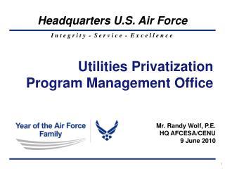 Utilities Privatization  Program Management Office