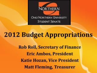 2012  Budget Appropriations
