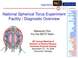 National Spherical Torus Experiment Facility / Diagnostic Overview