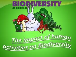 The impact of human activities on Biodiversity