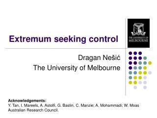 Extremum seeking control