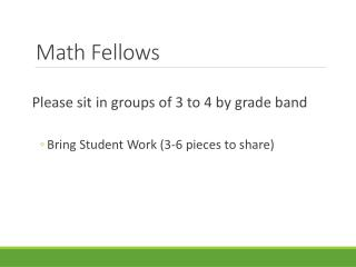 Math Fellows