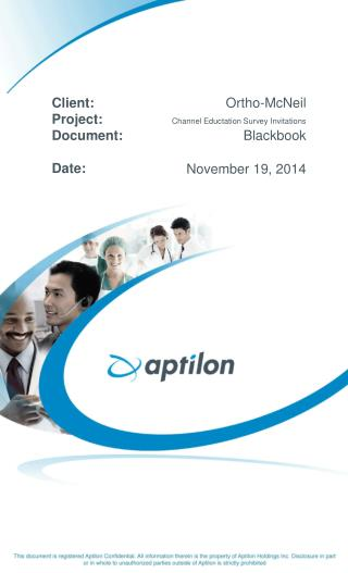 Ortho-McNeil Channel Eductation Survey Invitations Blackbook