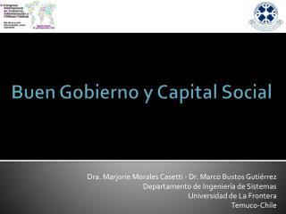 Buen Gobierno y Capital Social