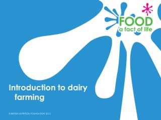 Introduction to dairy farming