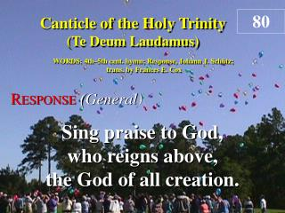 Canticle of the Holy Trinity (Response)
