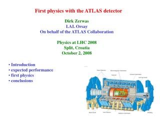 First physics with the ATLAS detector