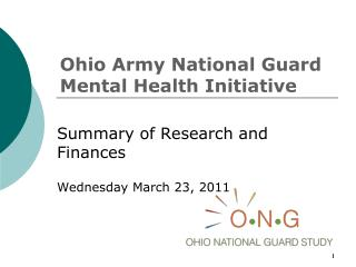 Ohio Army National Guard Mental Health Initiative