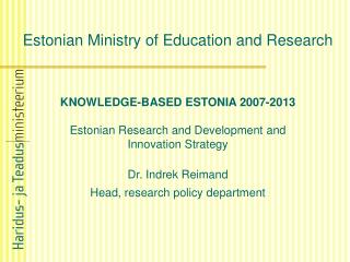 Estonian Ministry of Education and Research