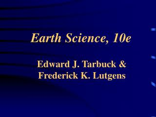 Earth Science, 10e