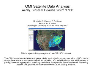 This is a preliminary analysis of the OMI NO2 dataset.