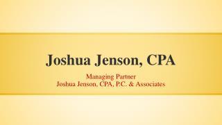 Joshua Jenson, CPA