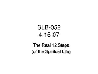 SLB-052 4-15-07