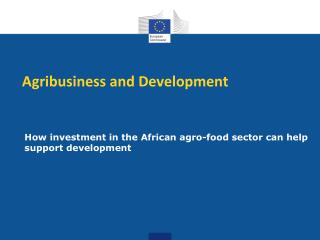 Agribusiness and Development