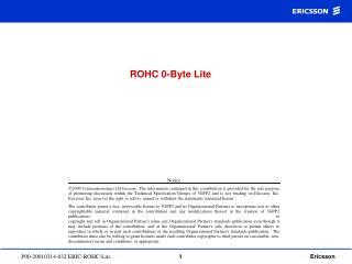 ROHC 0-Byte Lite