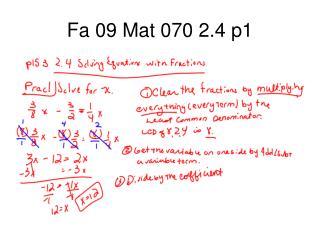 Fa 09 Mat 070 2.4 p1