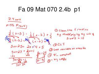 Fa 09 Mat 070 2.4b  p1