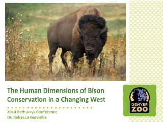 The Human Dimensions of Bison Conservation in a Changing West