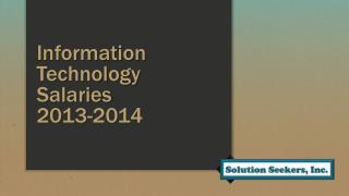 Information Technology Salaries 2013-2014