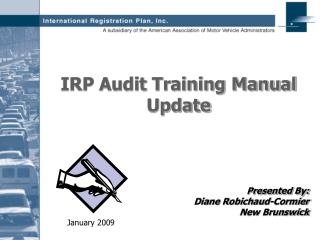 IRP Audit Training Manual Update