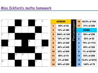 Miss  Eckford's  maths homework