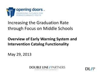 Increasing the Graduation Rate  through Focus on Middle  Schools