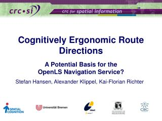 Cognitively Ergonomic Route Directions