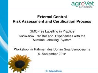 External Control Risk Assessment and Certification Process