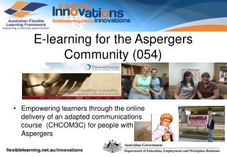 E-learning for the Aspergers Community (054)