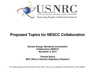 Potential NESCC Topics