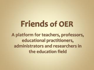 Friends  of OER