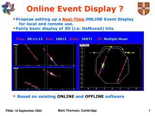 Online Event Display ?