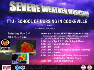 SEVERE WEATHER WORKSHOP