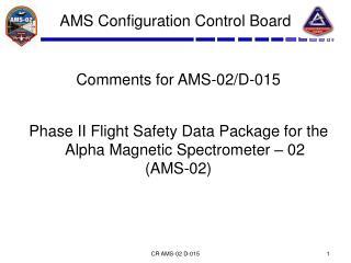 AMS Configuration Control Board