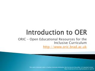 Introduction to OER