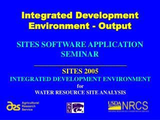 Integrated Development Environment - Output