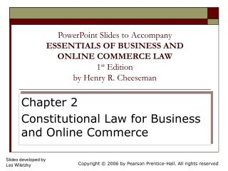 Chapter 2 Constitutional Law for Business and Online Commerce